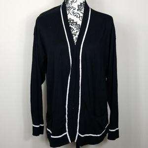 Women's XL Liz Claiborne black & white Cardigan